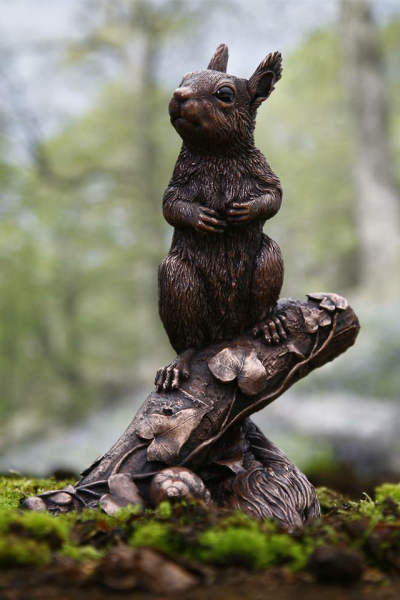 George Red Squirrel Sculpture