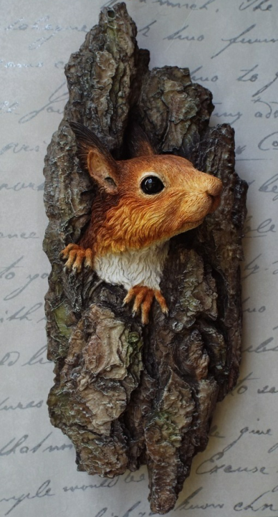 Hope Red Squirrel Sculpture