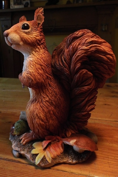 Rowan Red Squirrel Sculpture