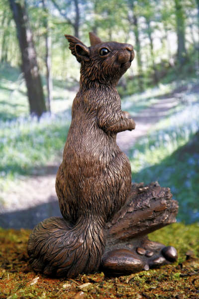 Willow Red Squirrel Sculpture