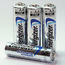 Energizer Lithium AA Battery x4