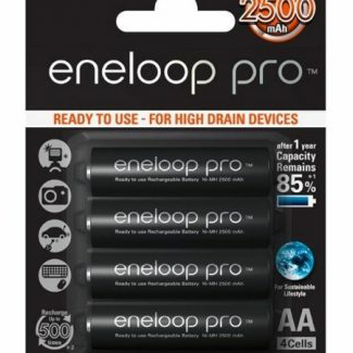 Panasonic Eneloop Pro 2500mAh low-discharge rechargeable AA Battery x4