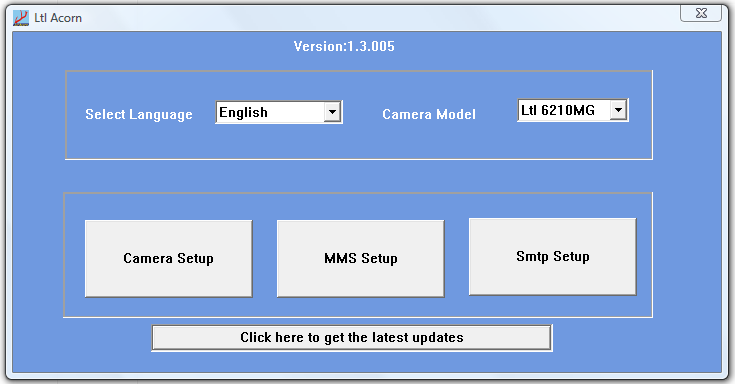 Initial setup screen on disk