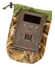 Neoprene draw-cord camera bag for trail cameras