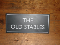 Welsh Slate Stable Sign