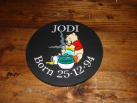 Welsh Slate Birth Date Plaque